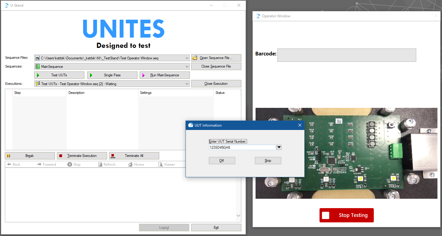 TestStand | Software | Products | UNITES Systems a s
